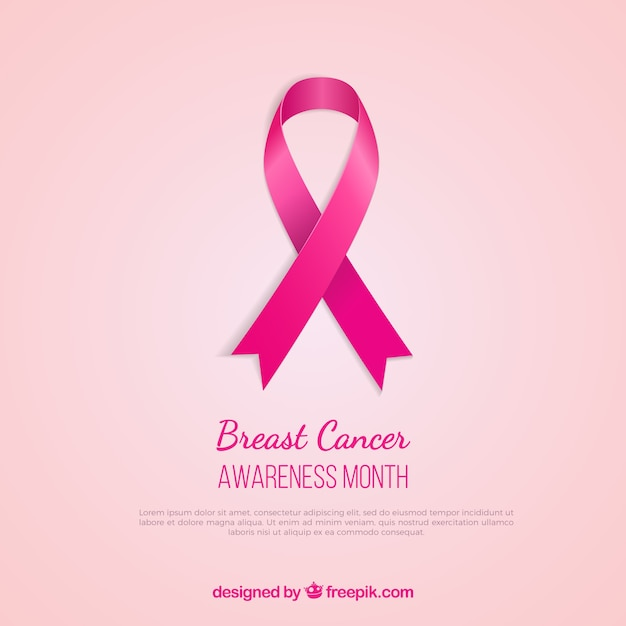f3d078bd264 Breast cancer awareness pink ribbon Vector | Free Download