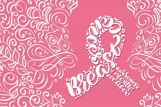 Breast cancer background Premium Vector