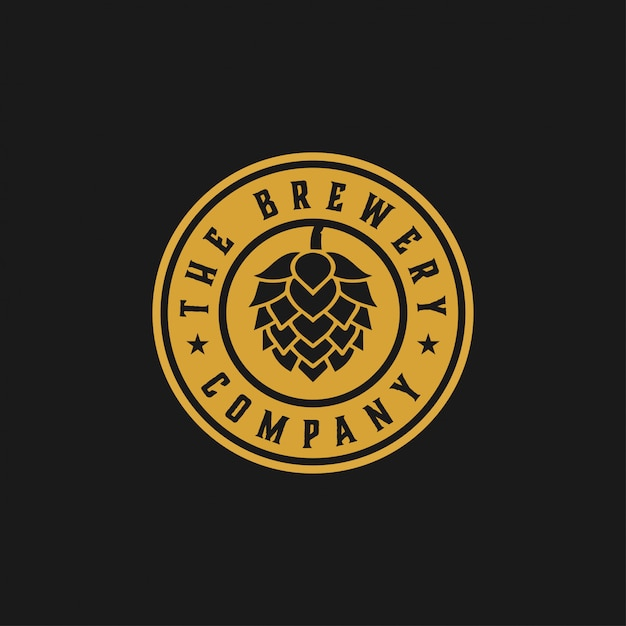 The brewery company graphic design template Premium Vector
