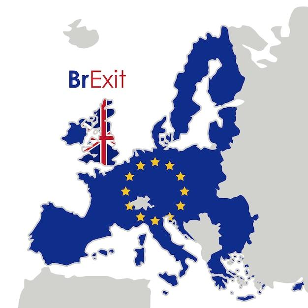 Brexit of the eruropean union icon. europe nation and government theme. colorful design. vector illu Premium Vector
