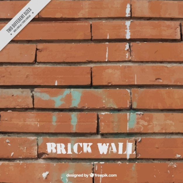 Brick wall with stains