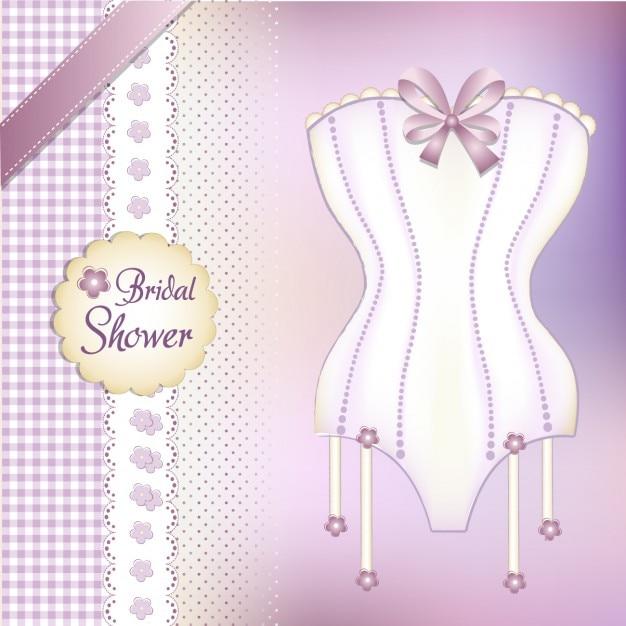 bridal shower card free vector