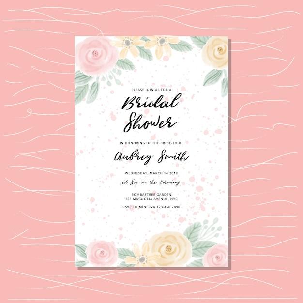 Bridal shower invitation Premium Vector