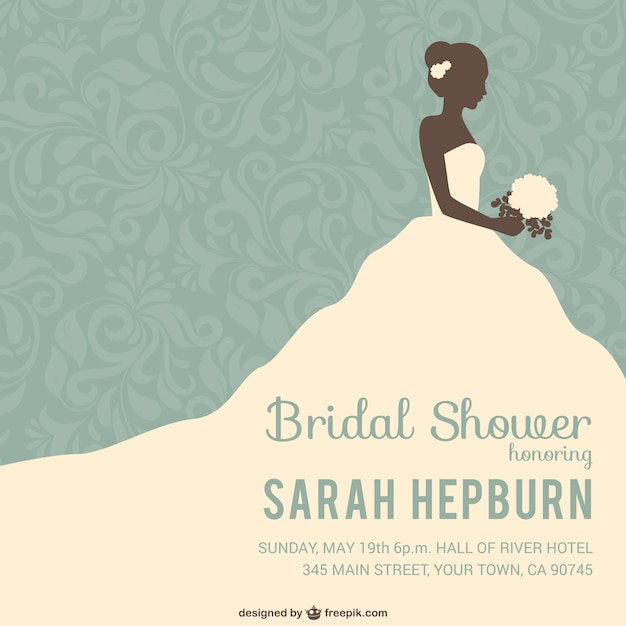 Bridal shower invitation Vector Free Download