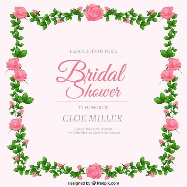 Invitation Party Wedding Free Vector Graphic On Pixabay: Bridal Shower Invitation Vector