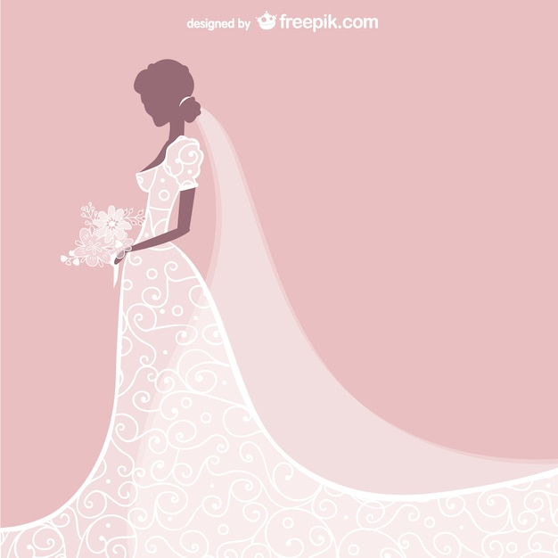 free vector modern wedding bride dress