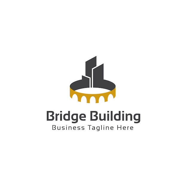 Bridge Building Logo Template Vector Premium Download