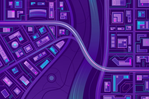 Bridge on city map Vector | Free Download