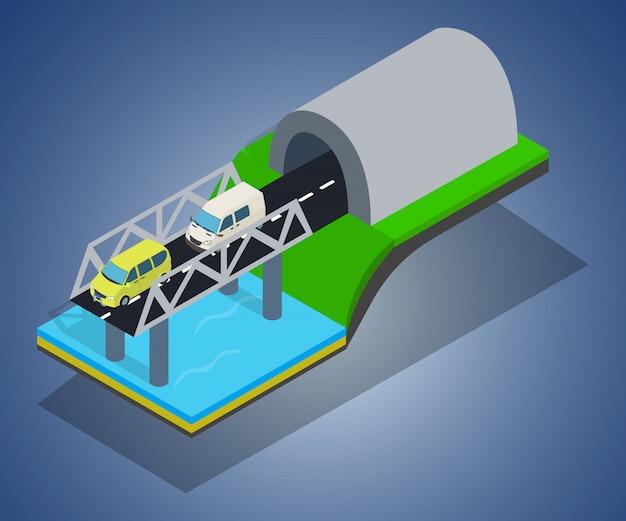 Bridge concept ard Premium Vector