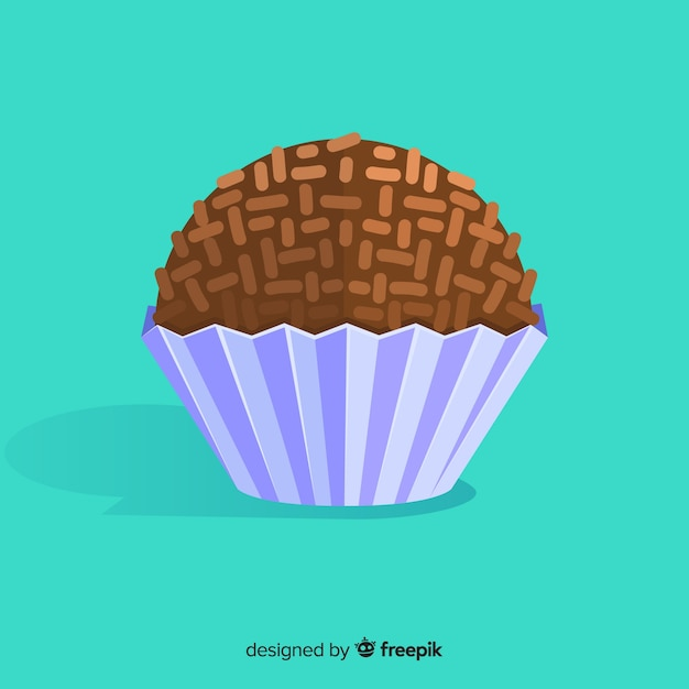 Brigadeiro Flat Background Free Vector