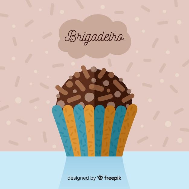 Бригадиро плоский фон Бесплатные векторы