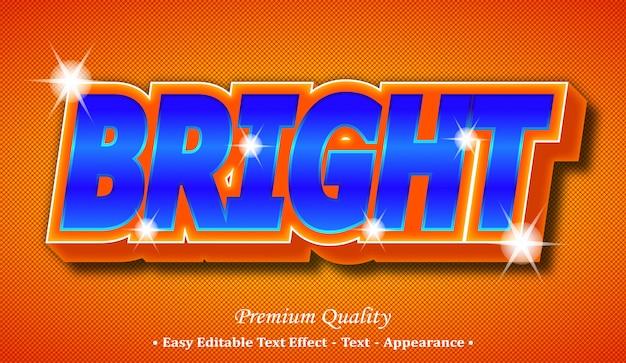 Bright 3d editable text style effect Premium Vector