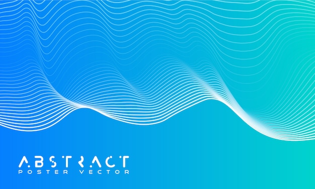Bright abstract background with a dynamic waves. Premium Vector
