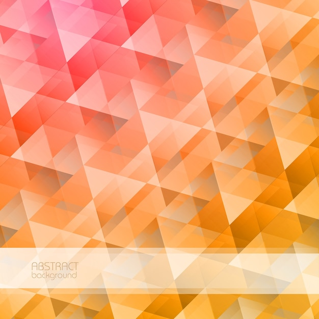 Bright abstract geometric with colorful triangular crystal shapes in mosaic style illustration Free Vector