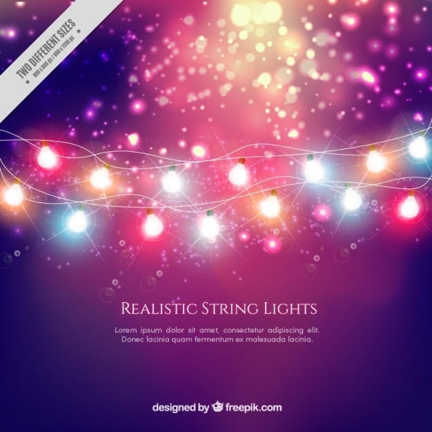 Bright background of blurred lights Free Vector