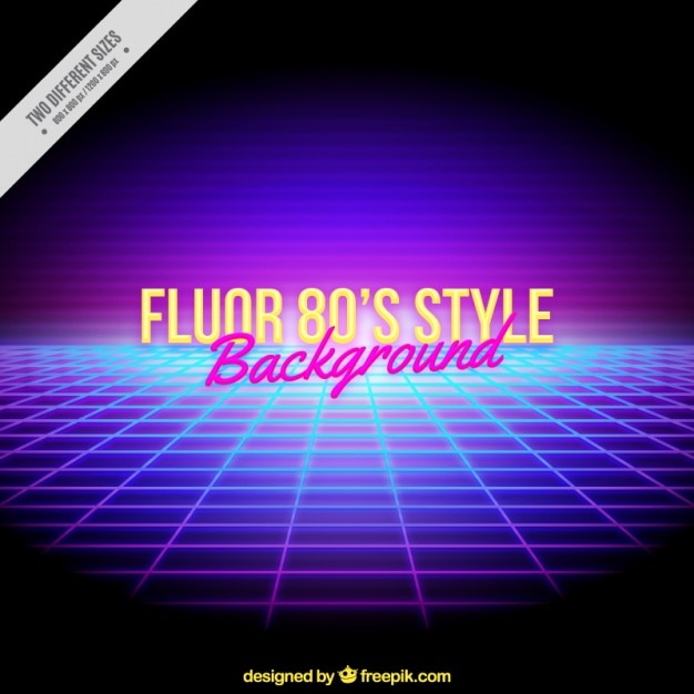Bright background of mesh in eighties style Free Vector