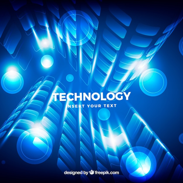 Bright background with abstract forms of technology