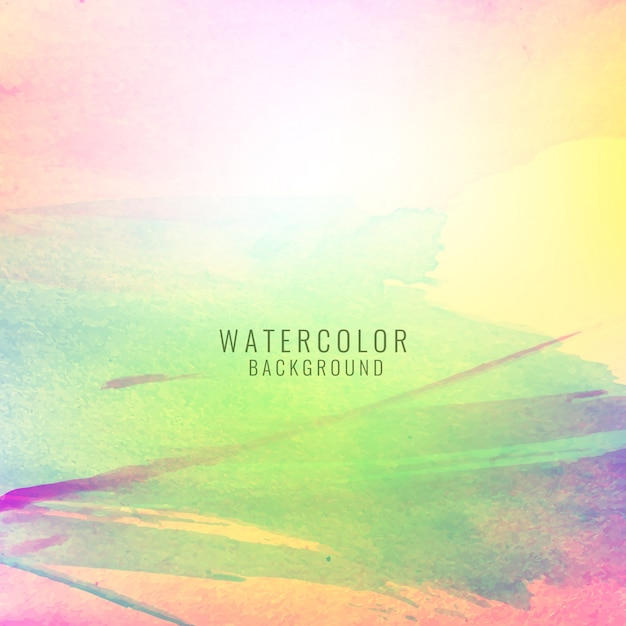 Bright background with colorful watercolor