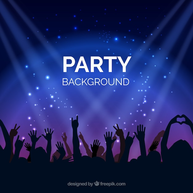 Bright background with party people Vector | Free Download