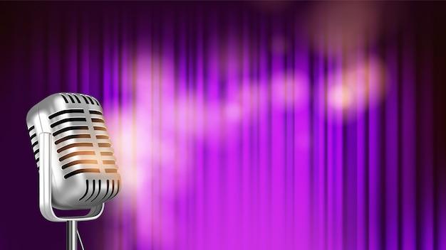Bright banner template of music Premium Vector
