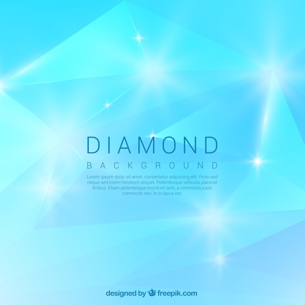 Bright blue diamond background Vector | Free Download