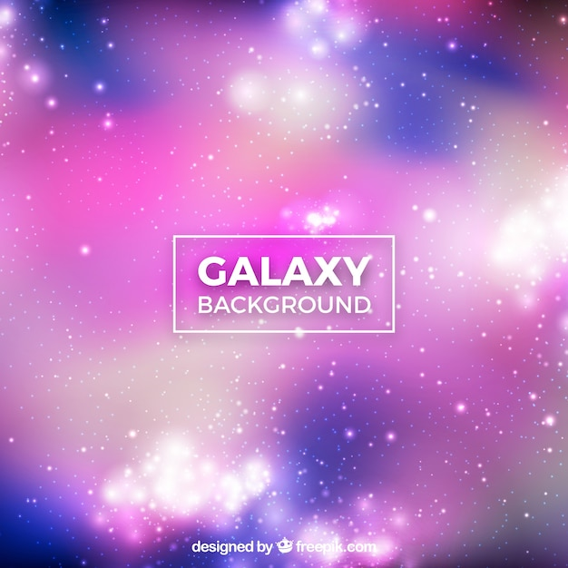 Bright blurred background of galaxy
