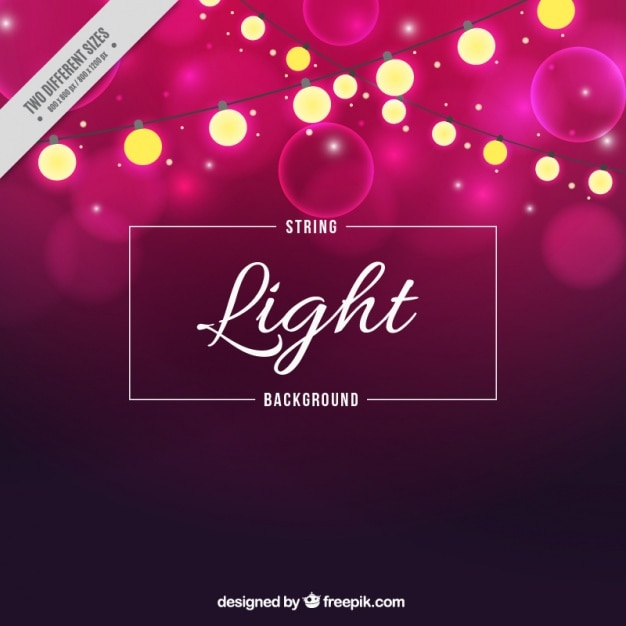 Download Vector - Bright bokeh background with string lights
