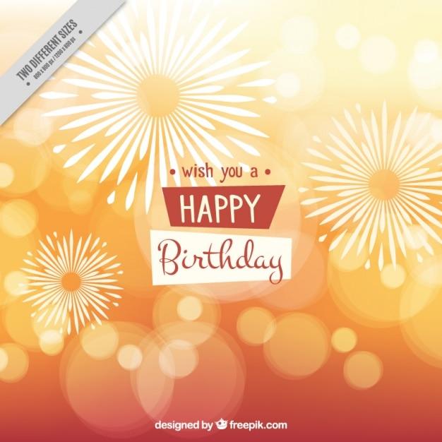 Bright bokeh happy birthday background