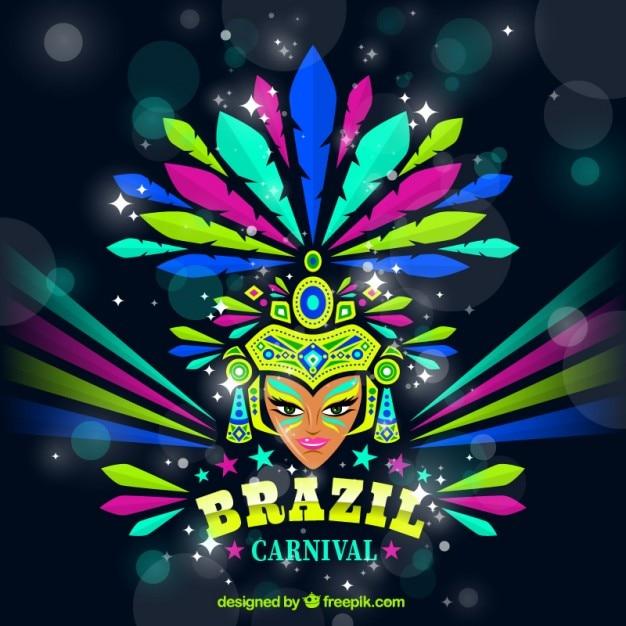 Bright carnival dancer background