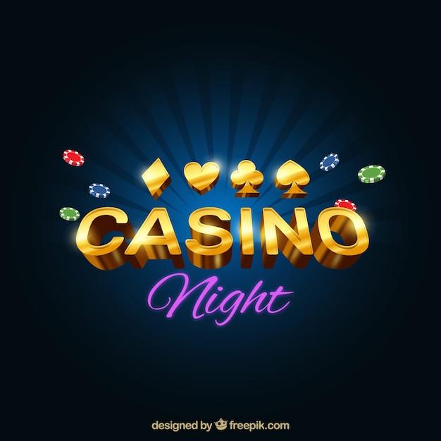 Bright casino background Free Vector