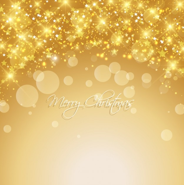 Bright christmas background in gold color Vector | Free Download