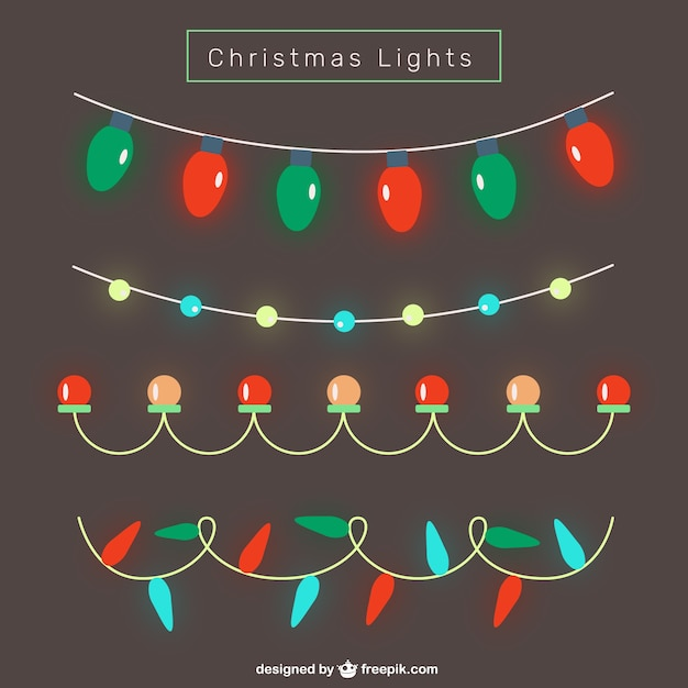 Bright Christmas Lights Vector