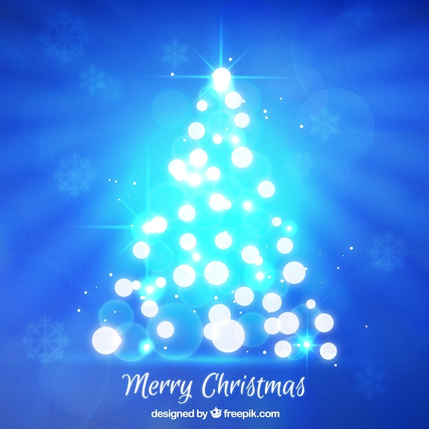 Bright christmas tree background Vector | Free Download