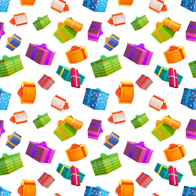 Bright colorful gift boxes Premium Vector