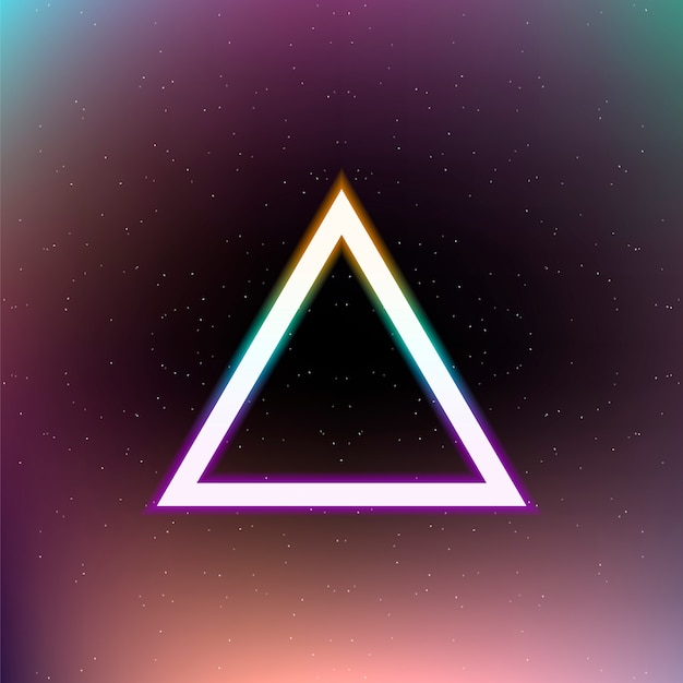 Bright colorful triangle on abstract space . Premium Vector
