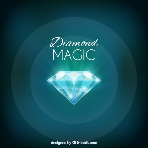 Bright diamond green background Free Vector
