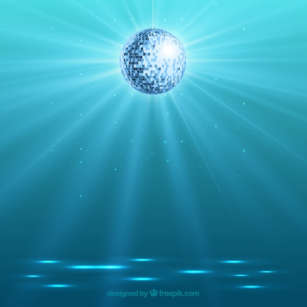 Bright Disco Ball Background Vector Free Download