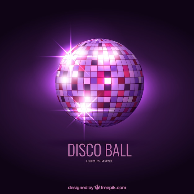 Bright disco ball Free Vector