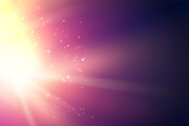 Яркие искры пламени над глубоким ультрафиолетовым пространством Бесплатные векторы