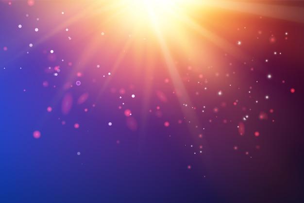 明るい紫外線が深紫外空間をスパーク 無料ベクター