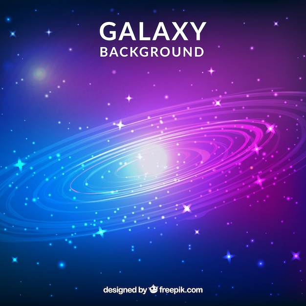 Bright galaxy background with stars