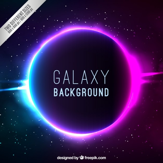 Bright galaxy background Free Vector