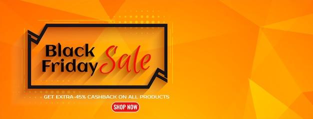 Bright geometrical black friday sale banner design vector Free Vector