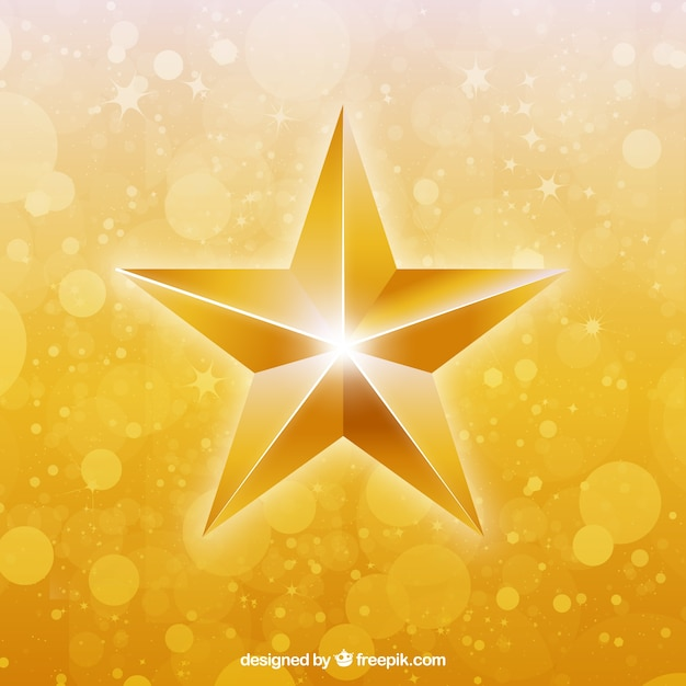 Bright Golden Star Vector Free Download