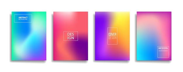 Яркий градиент цвета абстрактная линия узор фона дизайн обложки. Premium векторы
