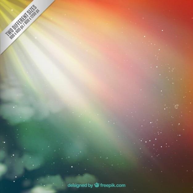 Bright gradient space background