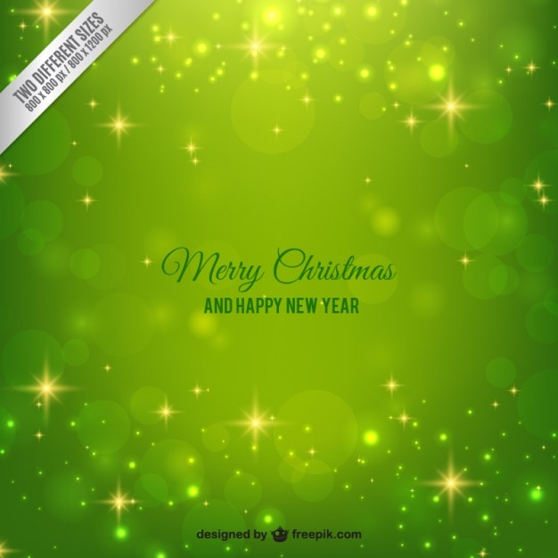 Bright green christmas background Free Vector