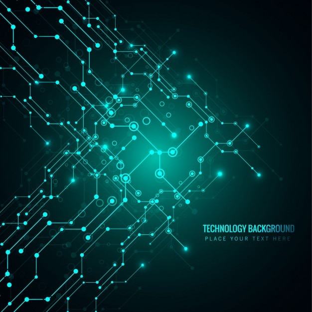 bright green technology background vector free download