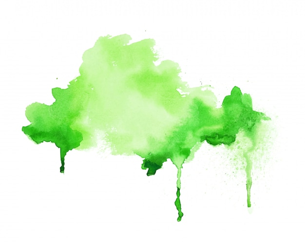Bright green watercolor hand painted texture background Free Vector