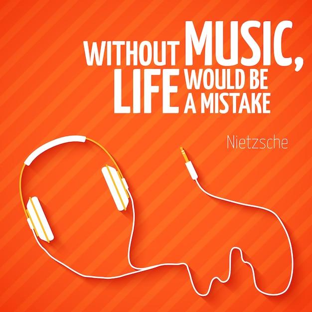 Free Vector Bright Headphones Music Wallpaper